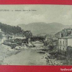 Postales: ANTIGUA POSTAL DE ASTURIAS - INFIESTO - BARRIO DE TRIANA - LIBRERIA Y PAPELERIA LA NUEVA . R-8221. Lote 110730215