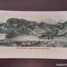 Postales: POSTAL DE COVADONGA, ASTURIAS, LAGO DE ENOL Y PEÑA SANTA, NO CIRCULADA, NO PONE EDITORIAL.. Lote 110895387