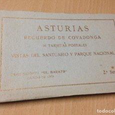 Postales: ANTIGUO BLOC 16 POSTALES ASTURIAS RECUERDO COVADONGA EL BARATO CANGAS DE ONIS. Lote 111609659