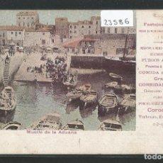 Postales: GIJÓN - MUELLE DE LA ADUANA - FESTEJOS 1903 - P23586. Lote 112921951