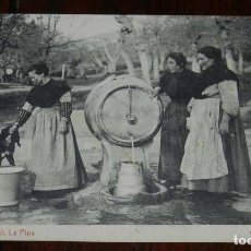 Postales: GIJÓN (ASTURIAS), SOMIÓ, LA PIPA, CIRCULADA EN 1917. Lote 113064743