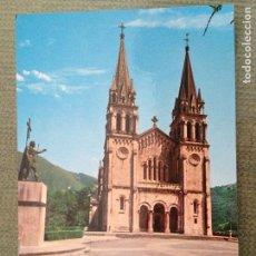 Postales: POSTAL COVADONGA ASTURIAS BASILICA Y ESTATUA DEL REY DON PELAYO. Lote 113072155