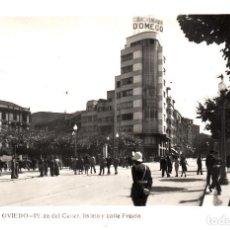 Postales: POSTAL FOTOGRAFICA DE OVIEDO .-PLAZA GENERALÍSIMO Y CALLE FRUELA, CIRCULADA. Lote 114716139