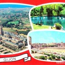 Postais: GIJON -UNIV. LABORAL. ESTANQUE DEL PARQUE Y VISTA- (EDICIONES ALARDE Nº 24) SIN CIRCULAR / P-2638. Lote 114820723