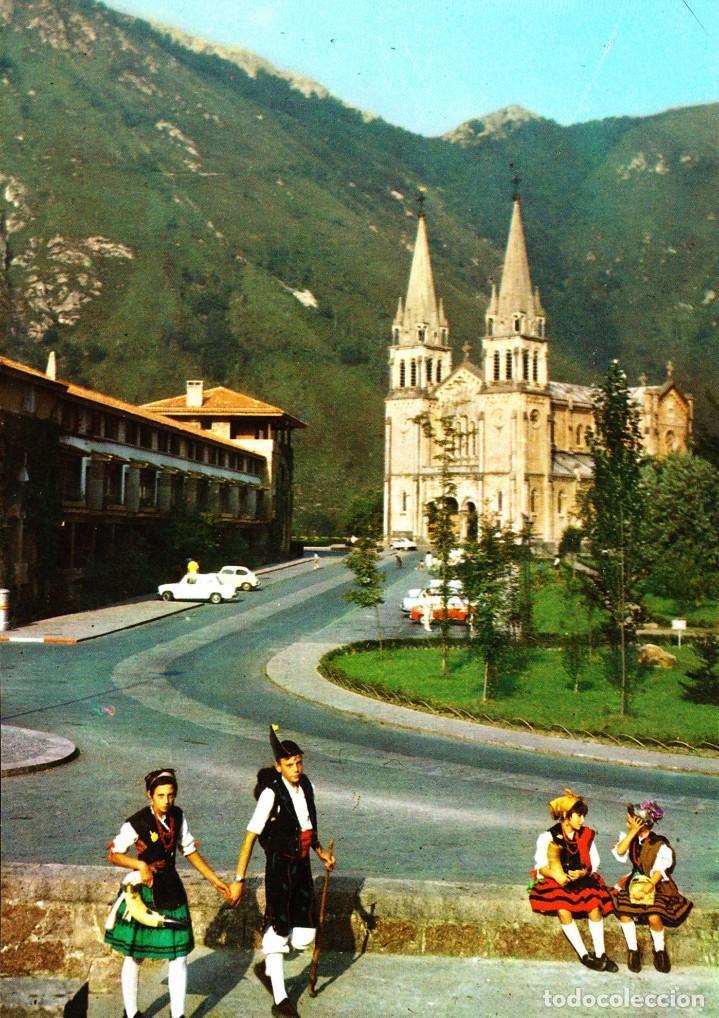 COVADONGA (ASTURIAS) -BASÍLICA- (ED. PERGAMINO Nº 16.335) SIN CIRCULAR / P-2822 (Postales - España - Asturias Moderna (desde 1.940))