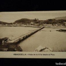 Postales: RIBADESELLA. VISTA DE LA VILLA DESDE EL PICO. ED. M. ARRIBAS. ESCRITA 1940. Lote 116142115
