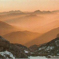 Postales: PICOS DE EUROPA ATARDECER DESDE VEGA HUERTA. Lote 116522219