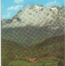 Postales: PICOS DE EUROPA VALLE DE VALDEON SANTA MARINA AL FONDO TORRE SALINAS. Lote 116526375