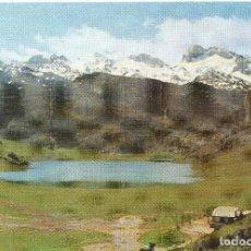 Postales: COVADONGA PARQUE NACIONAL PICOS DE EUROPA LAGO ERCINA Y MACIZO DE PEÑA SANTA . Lote 116539835