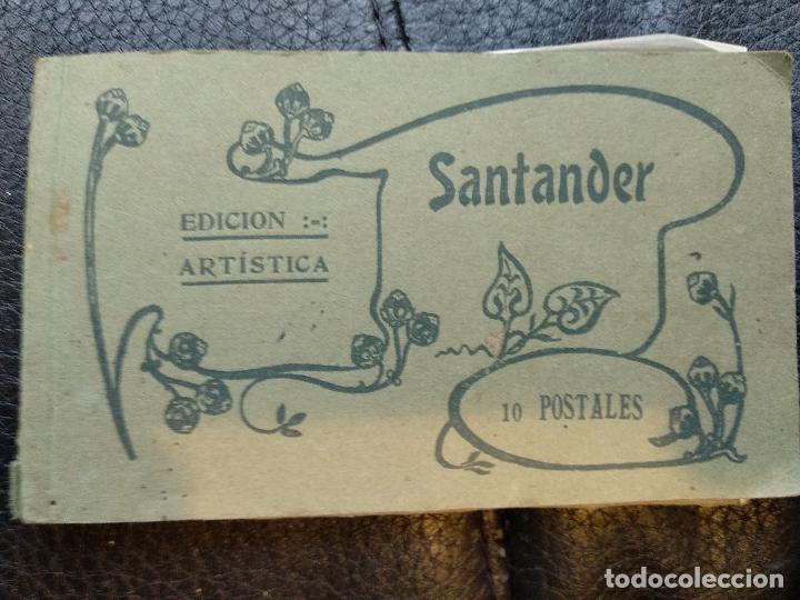 BLOC SANTANDER 10 POSTALES FOTOTIPIA CASTAÑEIRA ÁLVAREZ (Postales - España - Asturias Antigua (hasta 1.939))