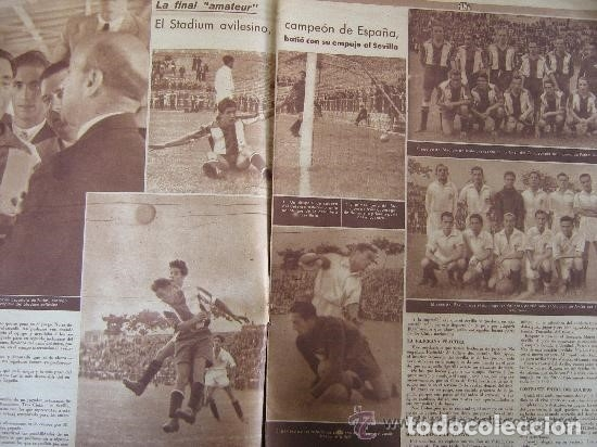 Postales: FOTOGRAFIA STADIUM DE AVILES CAMPEON DE ESPAÑA AMATEUR EN MADRID VALLECAS 1940 ANTE SEVILLA ASTURIAS - Foto 4 - 27218571