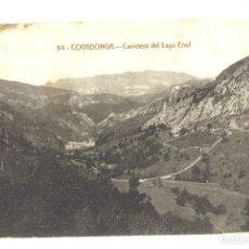 Postales: COVADONGA. CARRETERA DEL LAGO DE ENOL. Lote 121082155