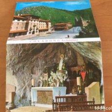 Postales: LIBRILLOS ACORDEÓN, 10 POSTALES DE COVADONGA, LA CUNA DE LA RECONQUISTA. Lote 125428355