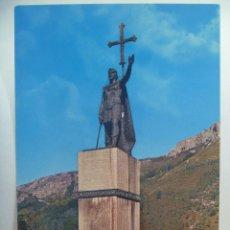 Postales: POSTAL DE COVADONGA , ASTURIAS: MONUMENTO AL REY PELAYO . AÑOS 60. Lote 126822955