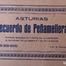 Postales: P-8407. ASTURIAS. RECUERDO DE PEÑAMELLERA. 12 POSTALES SIN CIRCULAR. 1ª EDICIÓN ARTISTICA. COMPLETA.. Lote 127677651