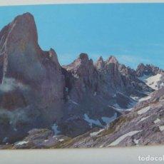 Postales: POSTAL DE LOS PICOS DE EUROPA , EL NARANJO DE BULNES ( CARA OESTE )Y VEGA DE URRIELLU . AÑOS 60. Lote 128018771