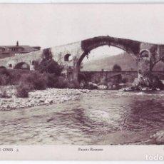 Postales: CANGAS DE ONÍS (ASTURIAS): PUENTE ROMANO. EDICIONES ARRIBAS. CIRCULADA (AÑOS 40). Lote 128083343