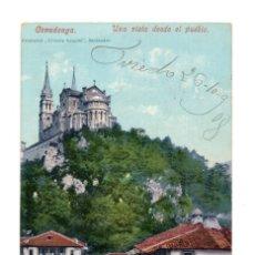 Postales: COVADONGA (ASTURIAS) UNA VISTA DESDE EL PUEBLO - ED. PURGER & CO.. Lote 128325591