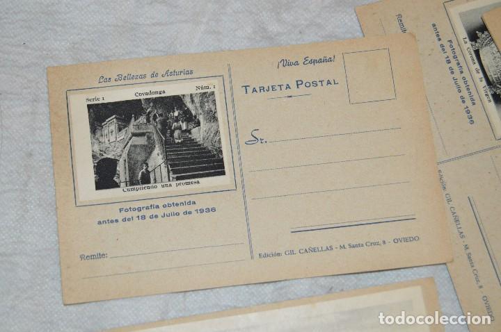 Postales: VINTAGE - PRECIOSO SET TARJETAS POSTALES - SERIE 1 - COVADONGA - LAS BELLEZAS DE ASTURIAS - ENVÍO24H - Foto 4 - 129473735
