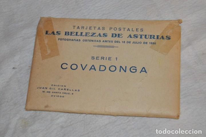 Postales: VINTAGE - PRECIOSO SET TARJETAS POSTALES - SERIE 1 - COVADONGA - LAS BELLEZAS DE ASTURIAS - ENVÍO24H - Foto 2 - 129473735