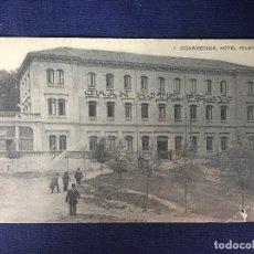 Postales: POSTAL COVADONGA HOTEL PELAYO GRAN HOTEL. Lote 68025389