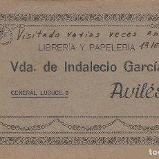 Postales: AVILÉS, ASTURIAS. 10 POSTALES. LIBRERÍA Y PAPELERÍA VDA. DE INDALECIO GARCIA. AÑOS 1916-17 Y 18.. Lote 131276887