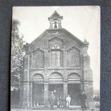 Postales: POSTAL ASTURIAS. SALINAS, LA CAPILLA. LA REGULADORA MODERNA. CIRCULADA. AÑO 1908. HAUSER Y MENET. . Lote 132552590