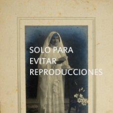 Postales: ANTIGUA FOTOGRAFIA POSTAL, NIÑA VESTIDA DE PRIMERA COMUNION, L. VINCK, GIJÓN. Lote 134161322