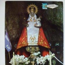 Postales: POSTAL. COVADONGA. ASTURIAS. LA SANTINA EN LA CUEVA. ED. ALCE. CIRCULADA EN 1968.. Lote 134778186