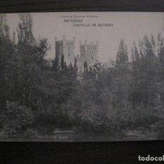 Postales: ASTURIAS - CASTILLO DE SECADES - FOTOTIPIA HAUSER Y MENET - (53.308). Lote 135445766