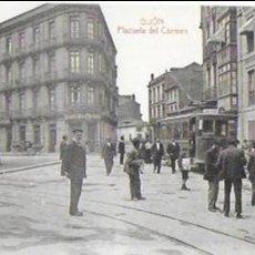 Postales: P- 8808. POSTAL GIJON , PLAZUELA DEL CARMEN. CLICHE L. VINCK.. Lote 136022058