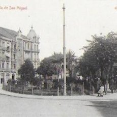 Postales: P- 8809. POSTAL GIJON , PLAZUELA DE SAN MIGUEL. CLICHE L. VINCK.. Lote 136022218