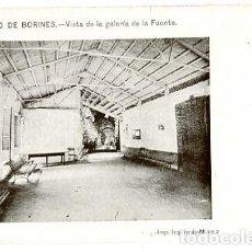 Postales: ASTURIAS BALNEARIO DE BORINES VISTA DE LA GALERIA DE LA FUENTE ED. R. ROCAFULL. REVERSO SIN DIVIDIR. Lote 136650686