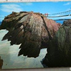 Postales: POSTAL DE SALINAS, ASTURIAS, PUENTE COLGANTE N398. Lote 137642170