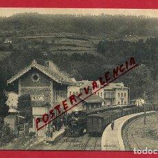 Postales: POSTAL ASTURIAS, TRUBIA , ESTACION FERROCARRIL DEL VASCO , ORIGINAL, P346. Lote 139202442