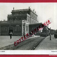 Postales: POSTAL ASTURIAS, BLANES , ESTACION FERROCARRIL , FOTOGRAFICA , ORIGINAL, P348. Lote 139203438