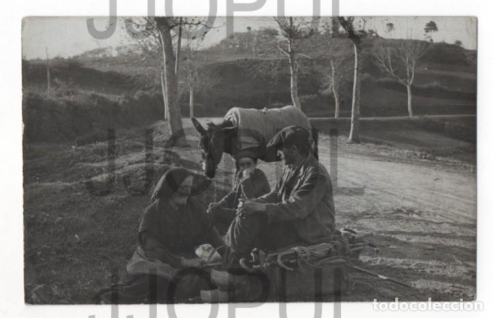 A. MARÍN. VENDEDOR AMBULANTE. OFICIO. MUROS DEL NALON. ASTURIAS. 1917 (Postales - España - Asturias Antigua (hasta 1.939))