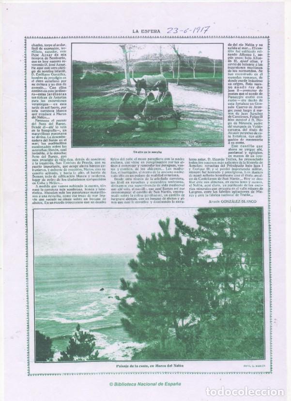 Postales: A. MARÍN. VENDEDOR AMBULANTE. OFICIO. MUROS DEL NALON. ASTURIAS. 1917 - Foto 2 - 139754674