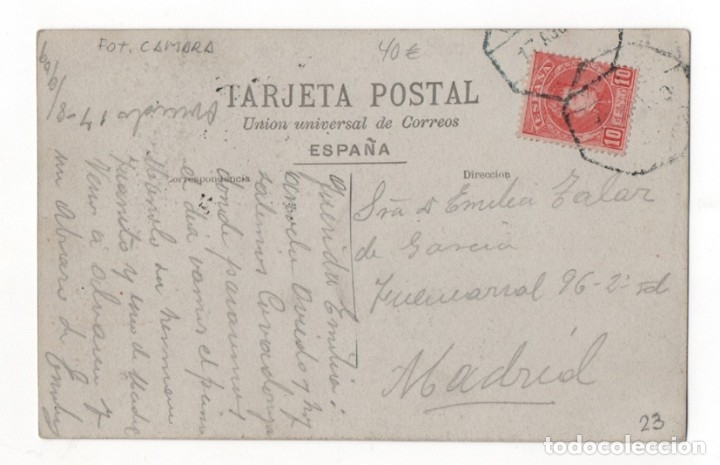 Postales: A. MARÍN. VENDEDOR AMBULANTE. OFICIO. MUROS DEL NALON. ASTURIAS. 1917 - Foto 3 - 139754674
