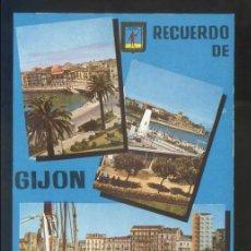 Cartes Postales: GIJÓN. *PUERTO LOCAL Y JARDINES* ED. FISA Nº 17. CIRCULADA.. Lote 140248010