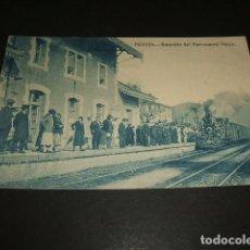 Postales: PRAVIA ASTURIAS ESTACION DEL FERROCARRIL VASCO ED. VARELA. Lote 140497974