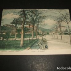 Postales: AVILES ASTURIAS EL PARQUE REVERSO SIN DIVIDIR ED. PAPELERIA DE F. FERNANDEZ. Lote 140529806