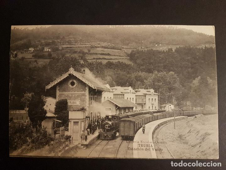 TRUBIA ASTURIAS ESTACION DEL VASCO (Postales - España - Asturias Antigua (hasta 1.939))