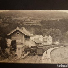 Postales: TRUBIA ASTURIAS ESTACION DEL VASCO. Lote 140655970
