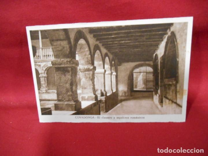 ANTIGUA POSTAL - COVADONGA - EL CLAUSTRO Y SEPULCROS ROMANICOS - SIN CIRCULAR - (Postales - España - Asturias Antigua (hasta 1.939))