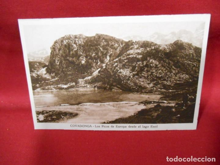 ANTIGUA POSTAL - COVADONGA - LOS PICOS DE EUROPA DESDE EL LAGO ENOL - SIN CIRCULAR - (Postales - España - Asturias Antigua (hasta 1.939))