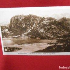 Postales: ANTIGUA POSTAL - COVADONGA - LOS PICOS DE EUROPA DESDE EL LAGO ENOL - SIN CIRCULAR -. Lote 142086626