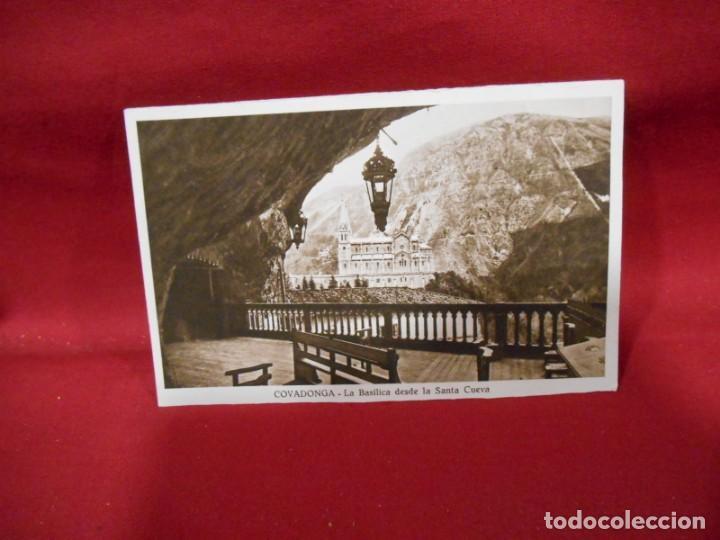 ANTIGUA POSTAL - COVADONGA - LA BASILICA DESDE LA SANTA CUEVA - SIN CIRCULAR - (Postales - España - Asturias Antigua (hasta 1.939))