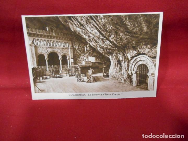 ANTIGUA POSTAL - COVADONGA - LA HISTORICA SANTA CUEVA - SIN CIRCULAR - (Postales - España - Asturias Antigua (hasta 1.939))