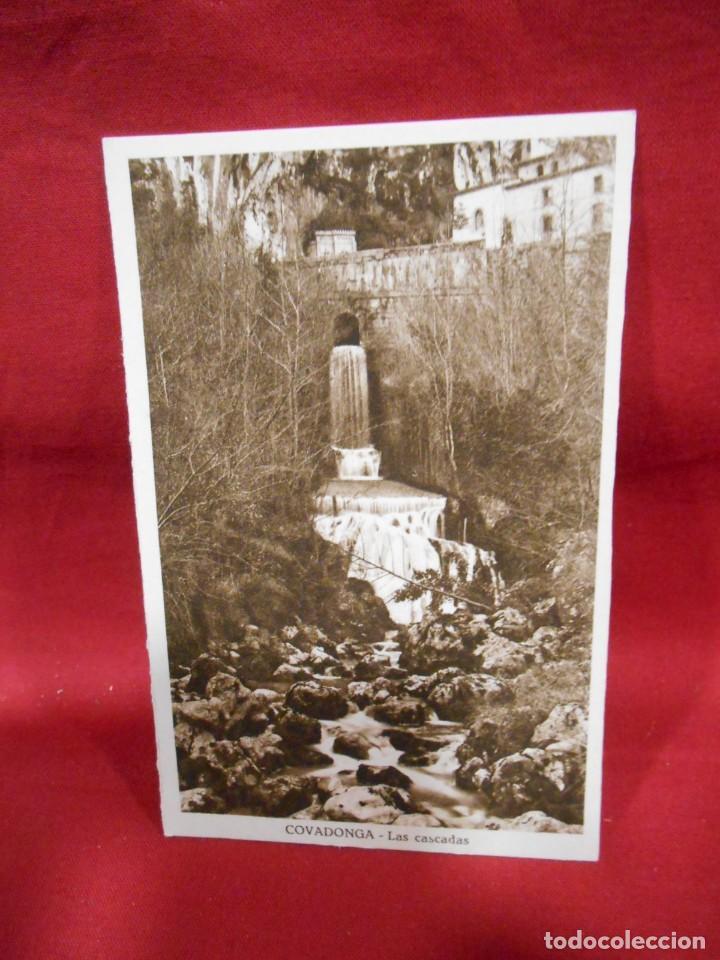 ANTIGUA POSTAL - COVADONGA - LAS CASCADAS - SIN CIRCULAR - (Postales - España - Asturias Antigua (hasta 1.939))